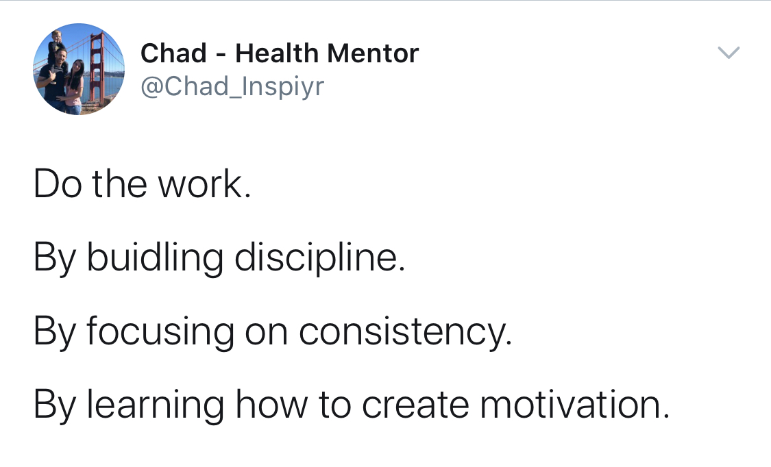 Motivation is created